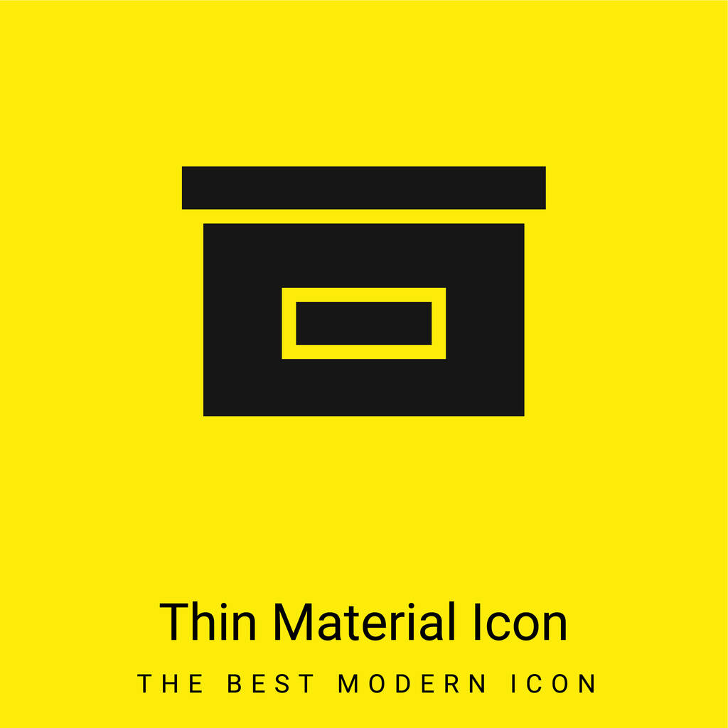 Black Box For Storage minimal bright yellow material icon