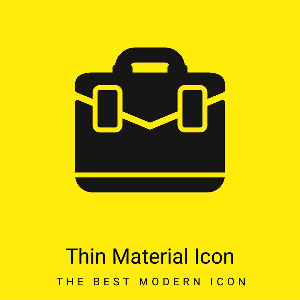 Briefcase minimal bright yellow material icon