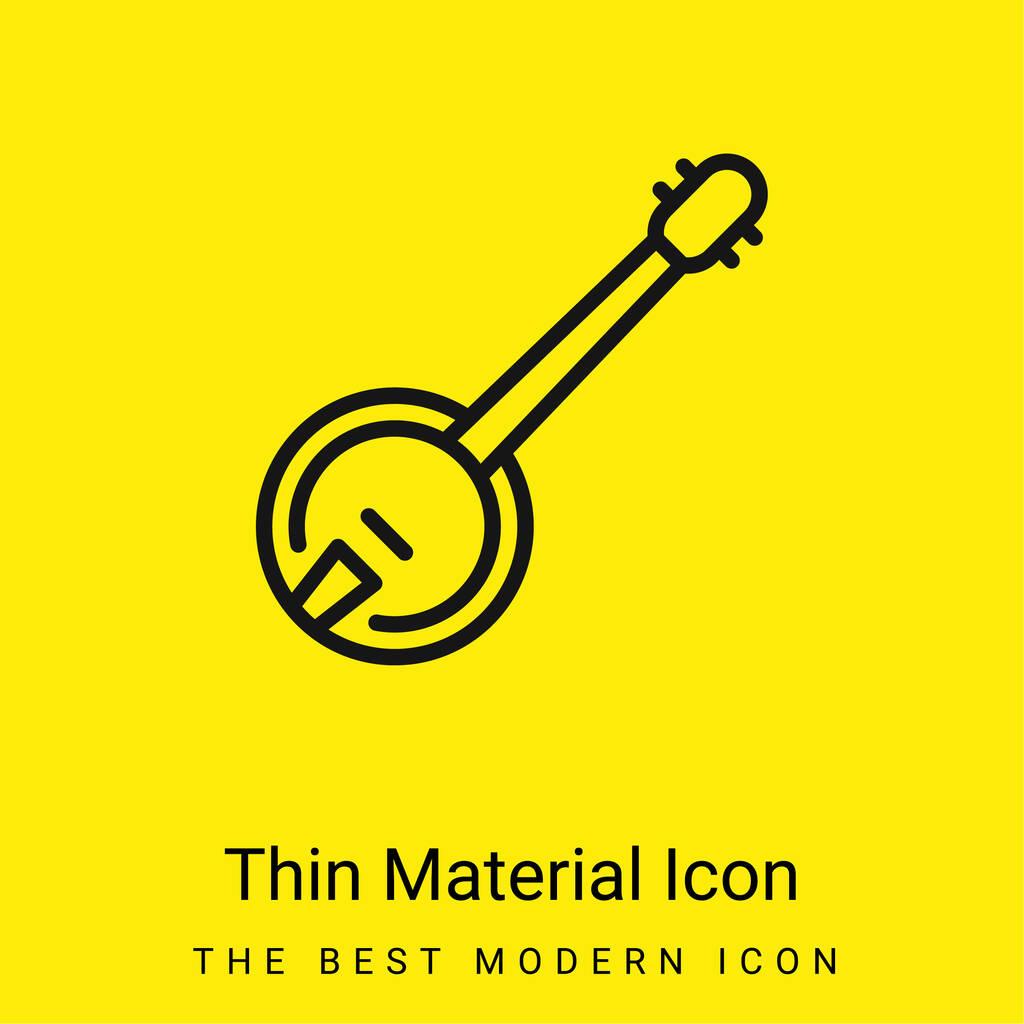 Banjo minimal bright yellow material icon