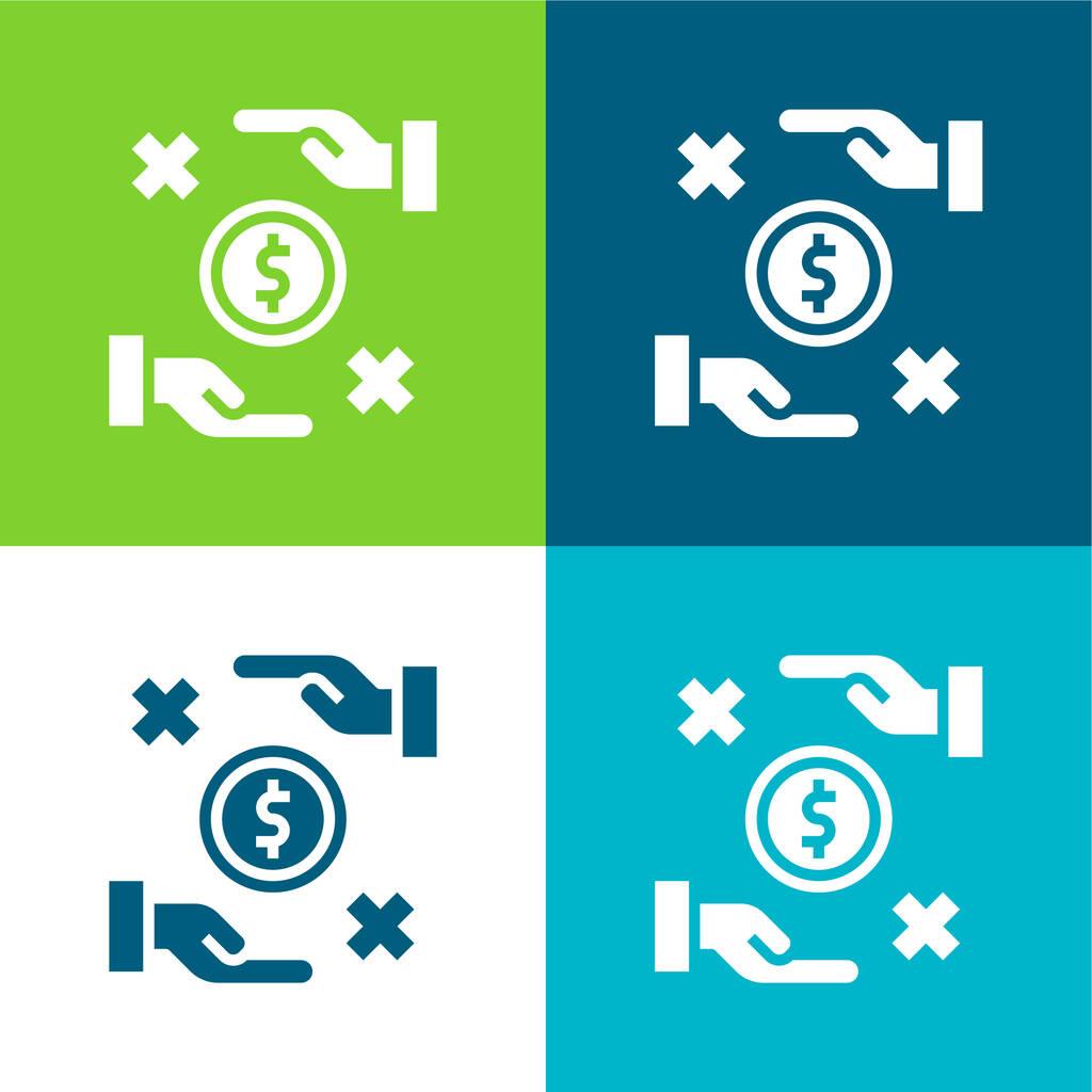 Bribe Flat four color minimal icon set