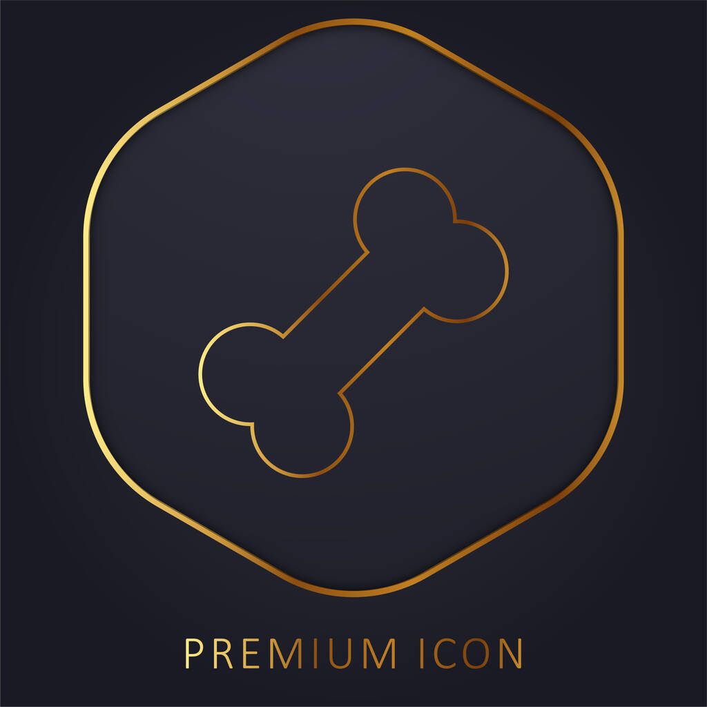 Bone golden line premium logo or icon