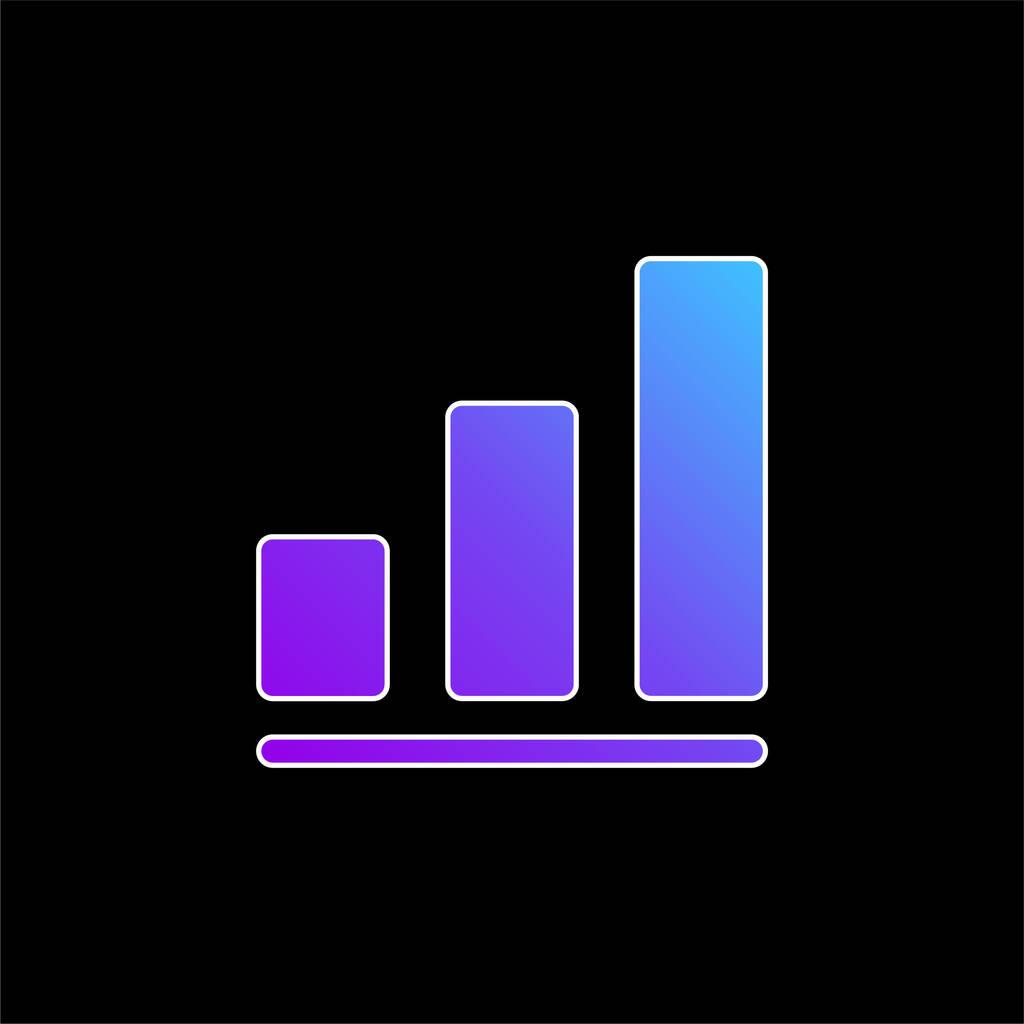 Bar Chart blue gradient vector icon