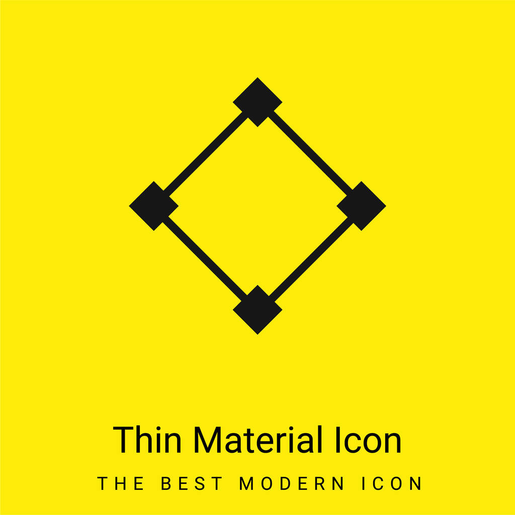 Abstract minimal bright yellow material icon