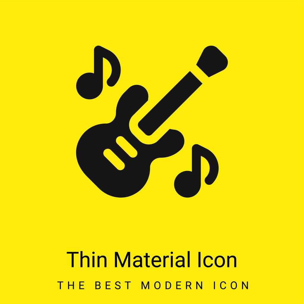 Bass Guitar minimal bright yellow material icon