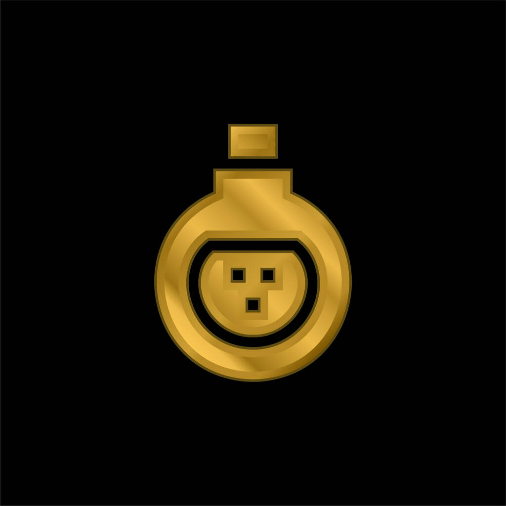 Antidote gold plated metalic icon or logo vector