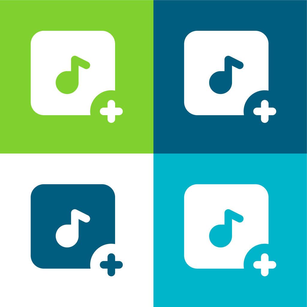 Add Flat four color minimal icon set