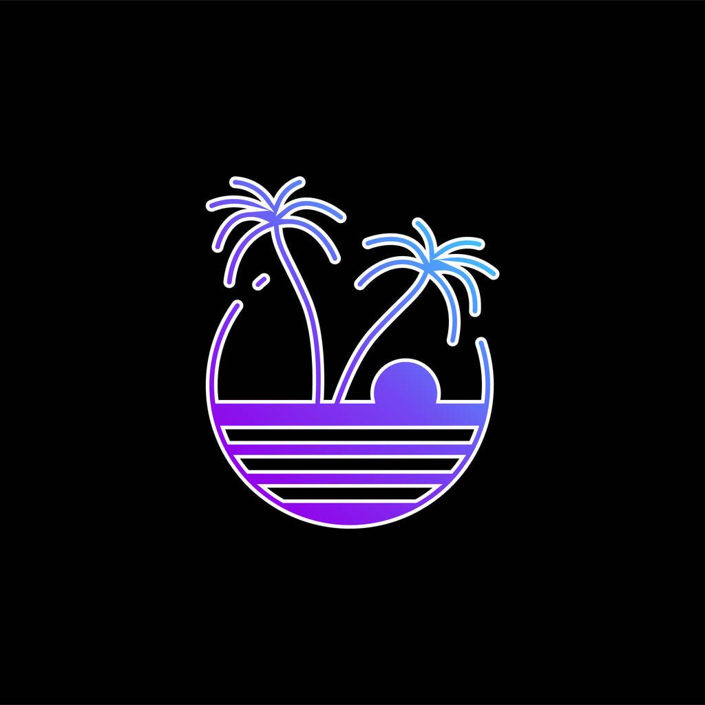 Beach blue gradient vector icon