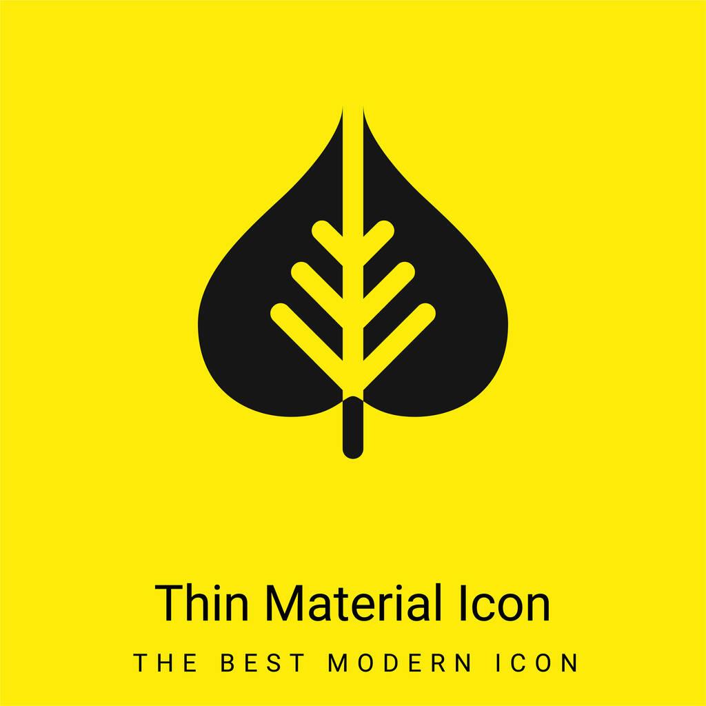 Bodhi Leaf minimal bright yellow material icon