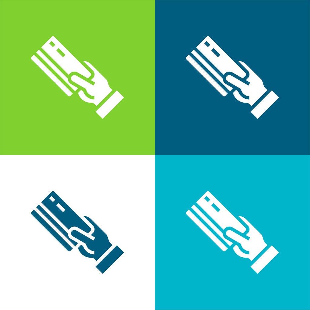 Atm Flat four color minimal icon set