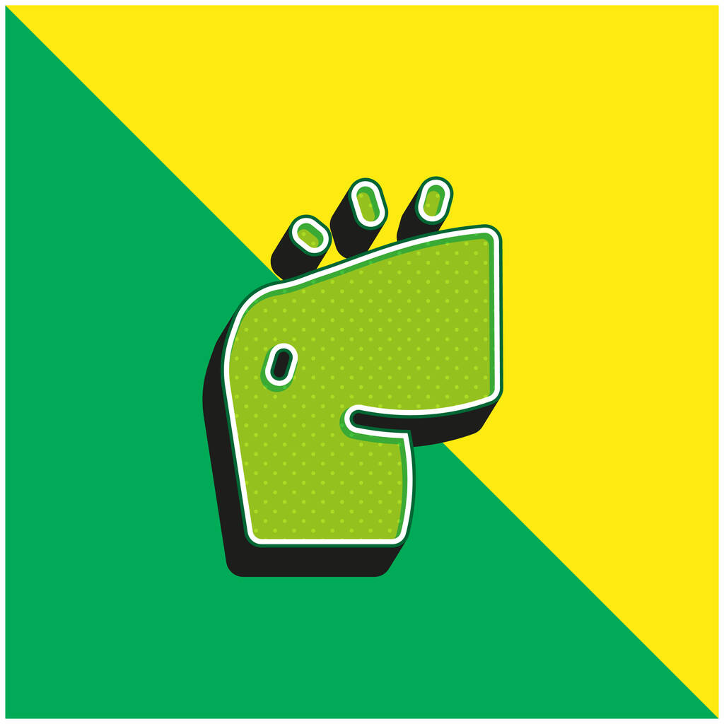 Arm Green and yellow modern 3d vector icon logo