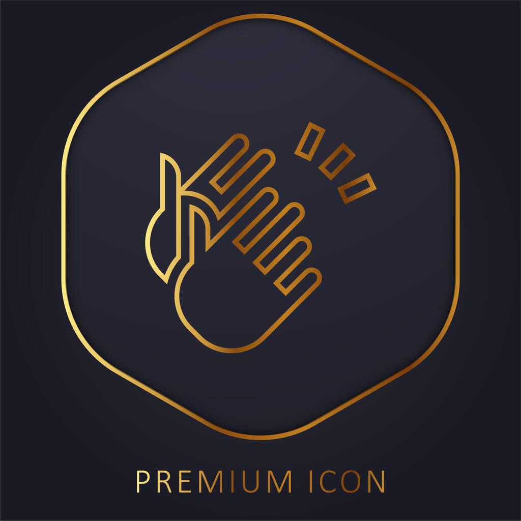 Applause golden line premium logo or icon