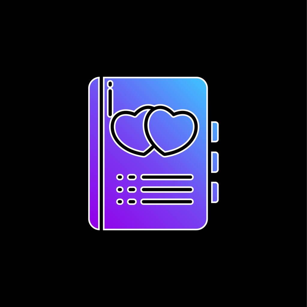 Book blue gradient vector icon