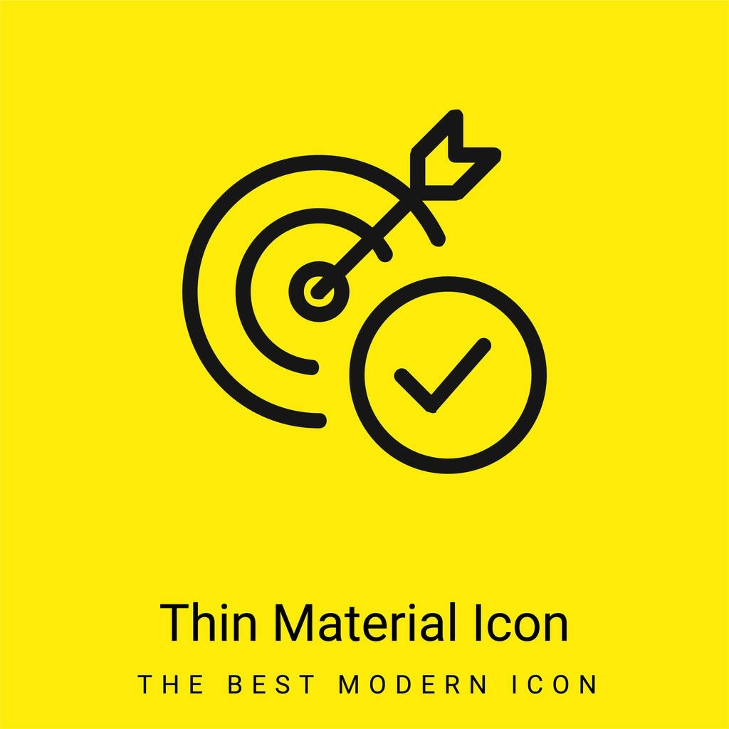 Aim minimal bright yellow material icon