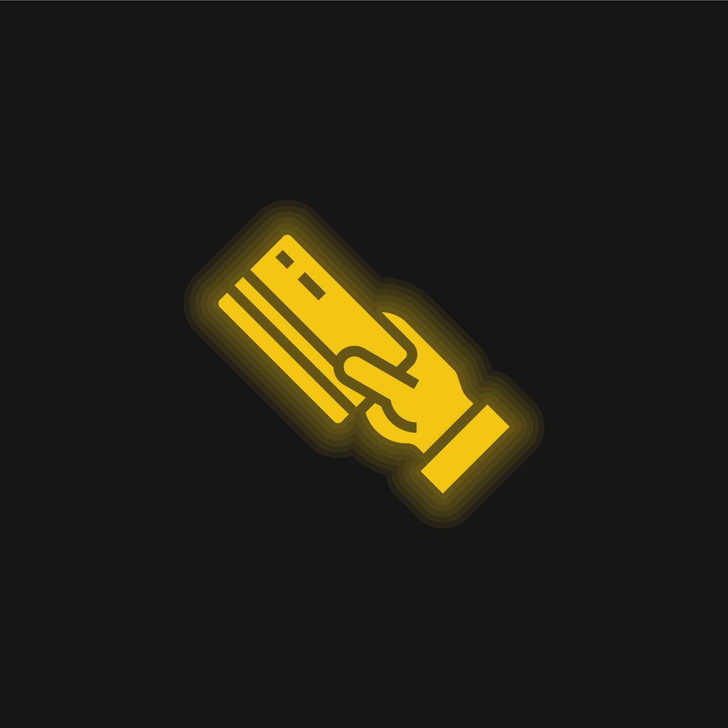 Atm yellow glowing neon icon