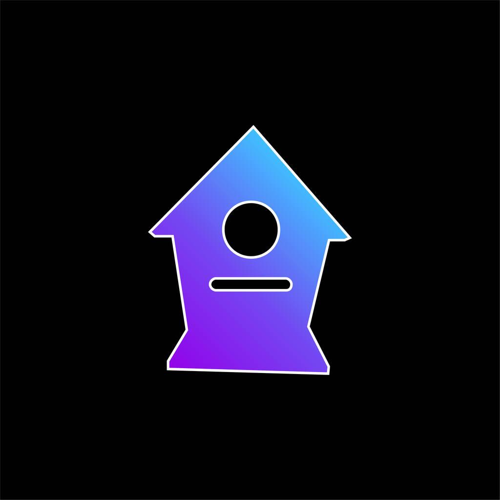 Birds Home blue gradient vector icon