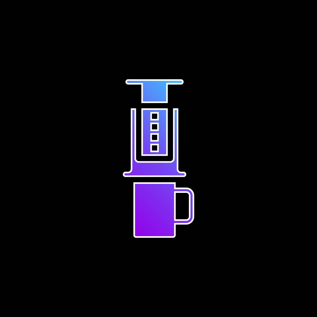 Aeropress blue gradient vector icon