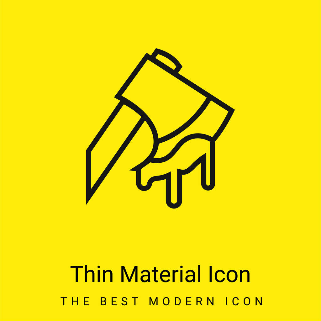 Axe Cutting An Animal minimal bright yellow material icon