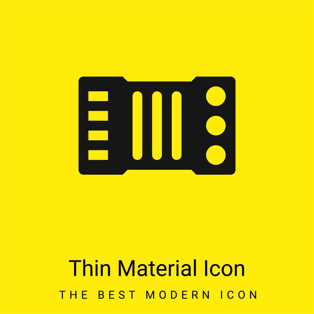 Accordion minimal bright yellow material icon