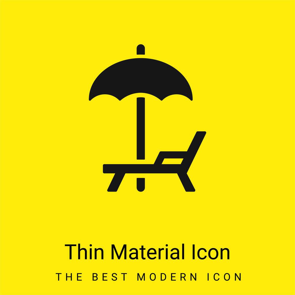 Beach Umbrella And Hammock minimal bright yellow material icon