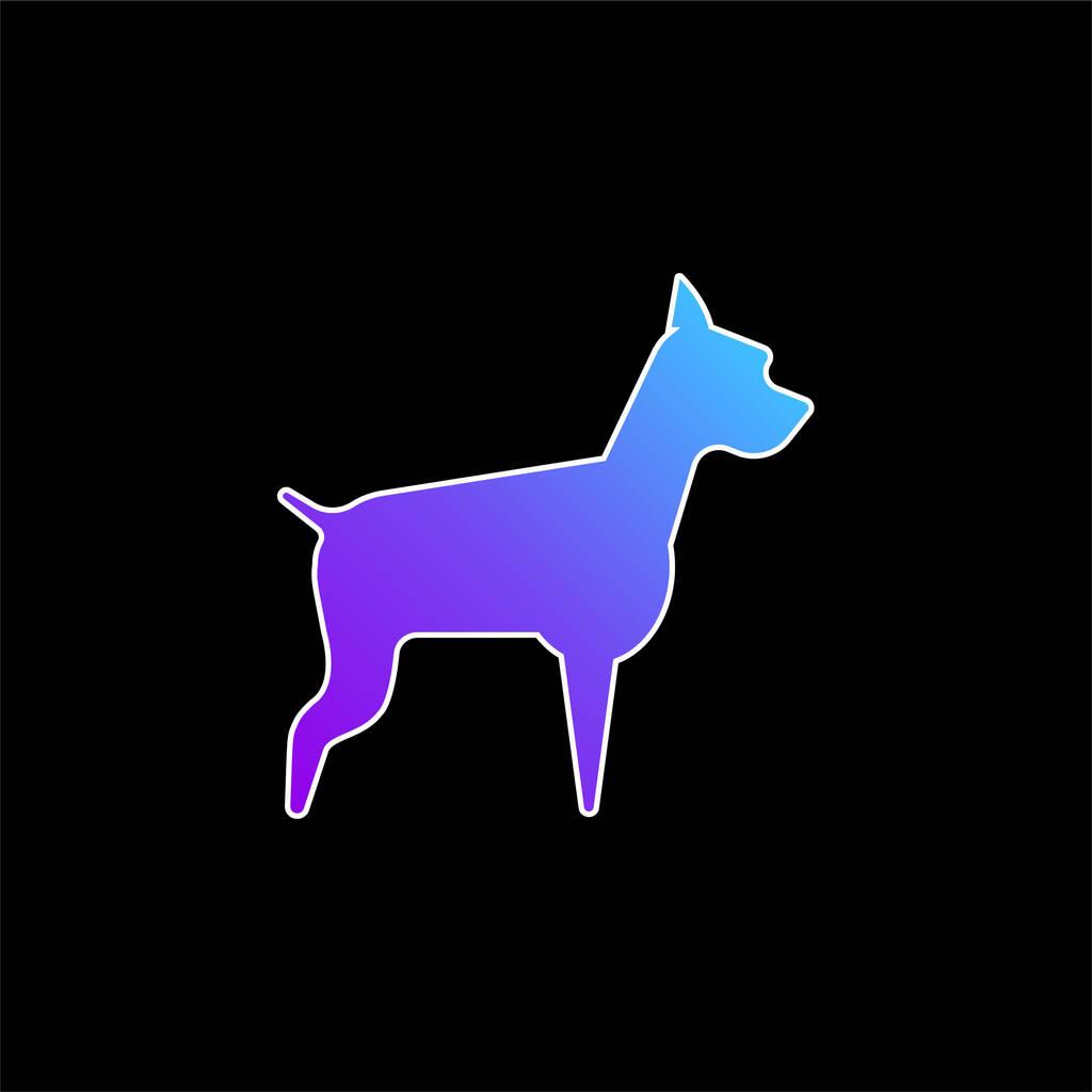 Big Dog blue gradient vector icon