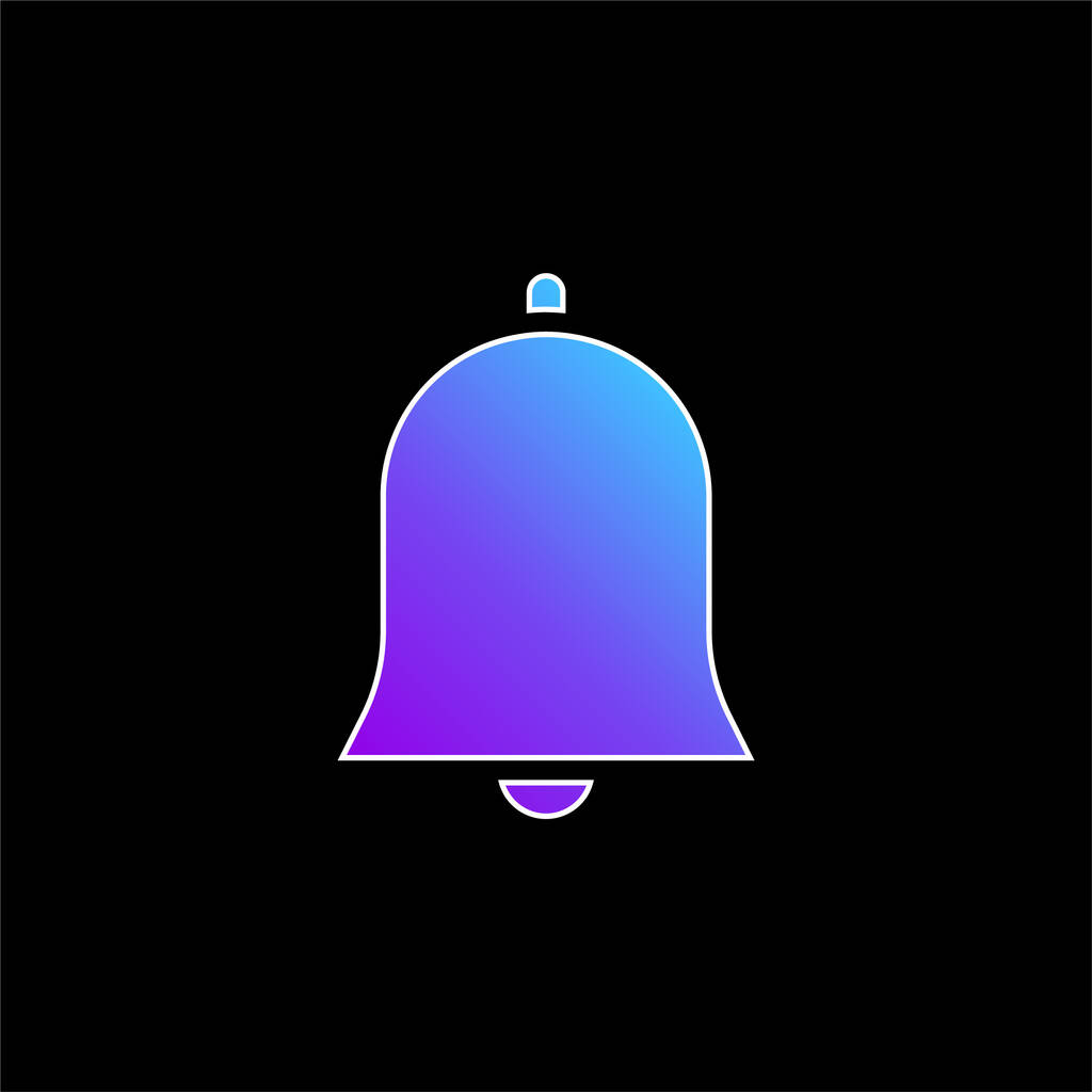 Bell blue gradient vector icon