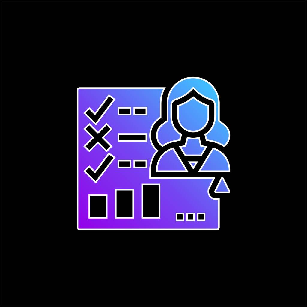 Appraisal Form blue gradient vector icon