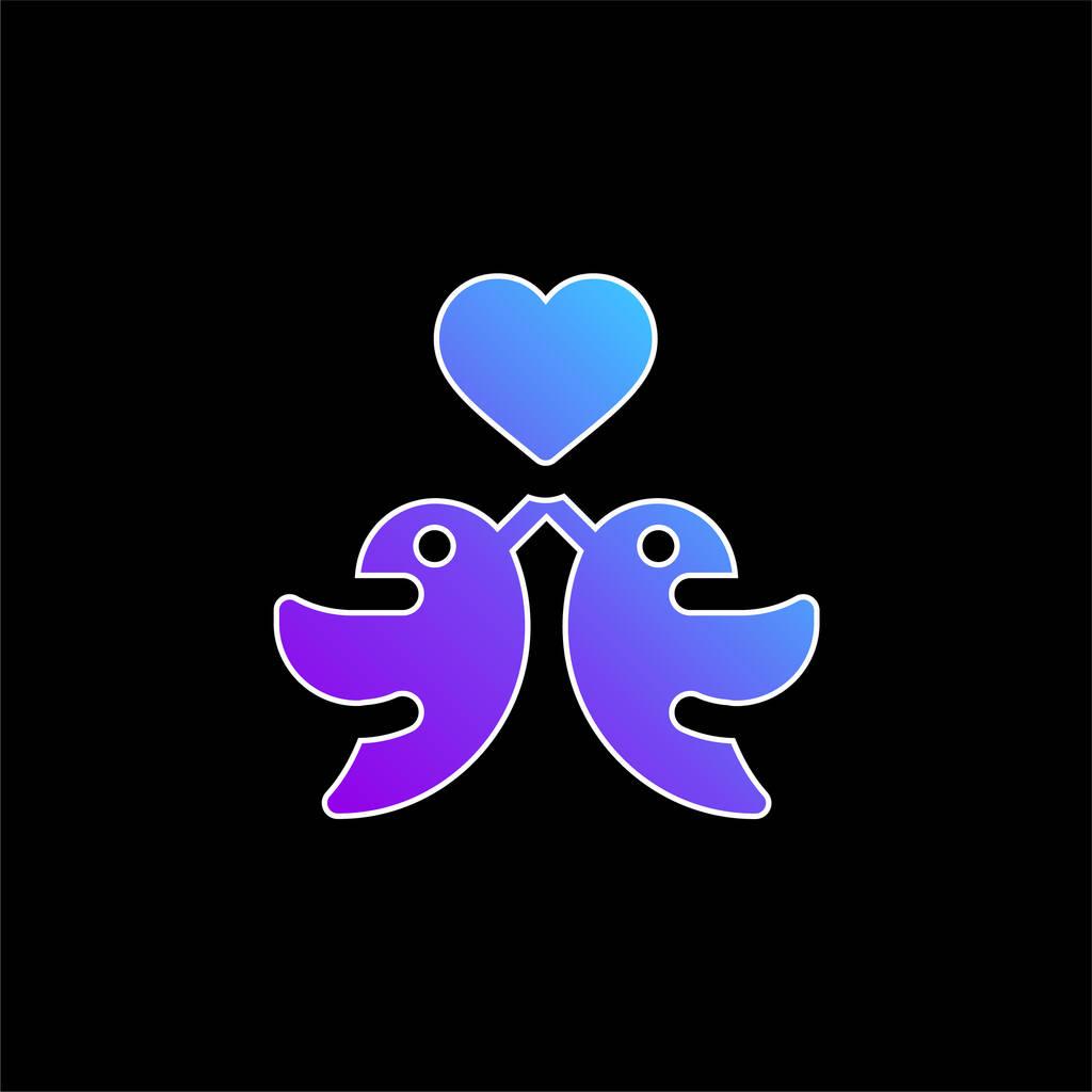 Birds blue gradient vector icon