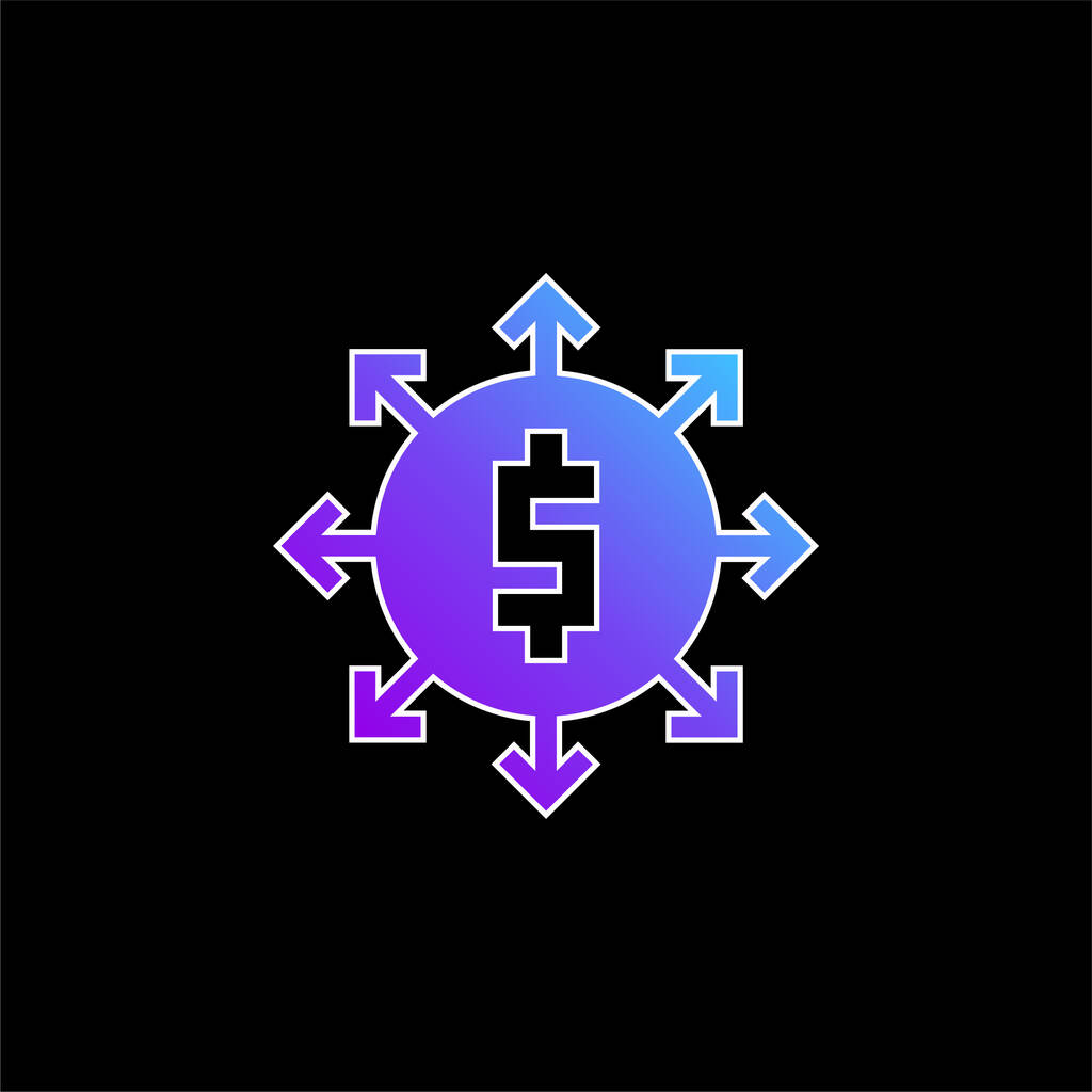 Affiliate Marketing blue gradient vector icon