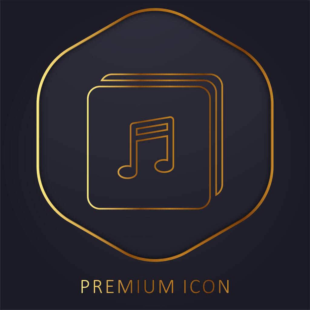Album golden line premium logo or icon