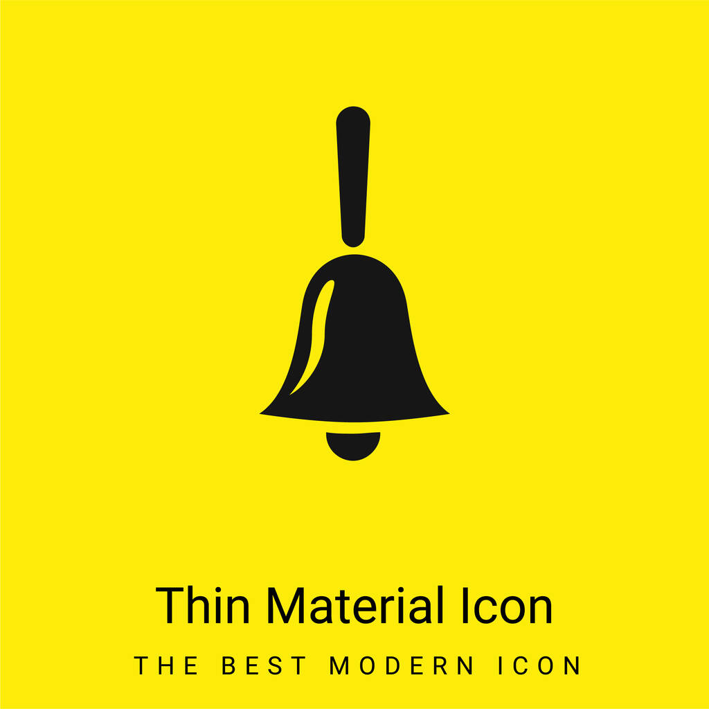 Bell minimal bright yellow material icon