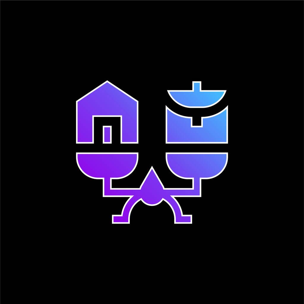 Balance blue gradient vector icon