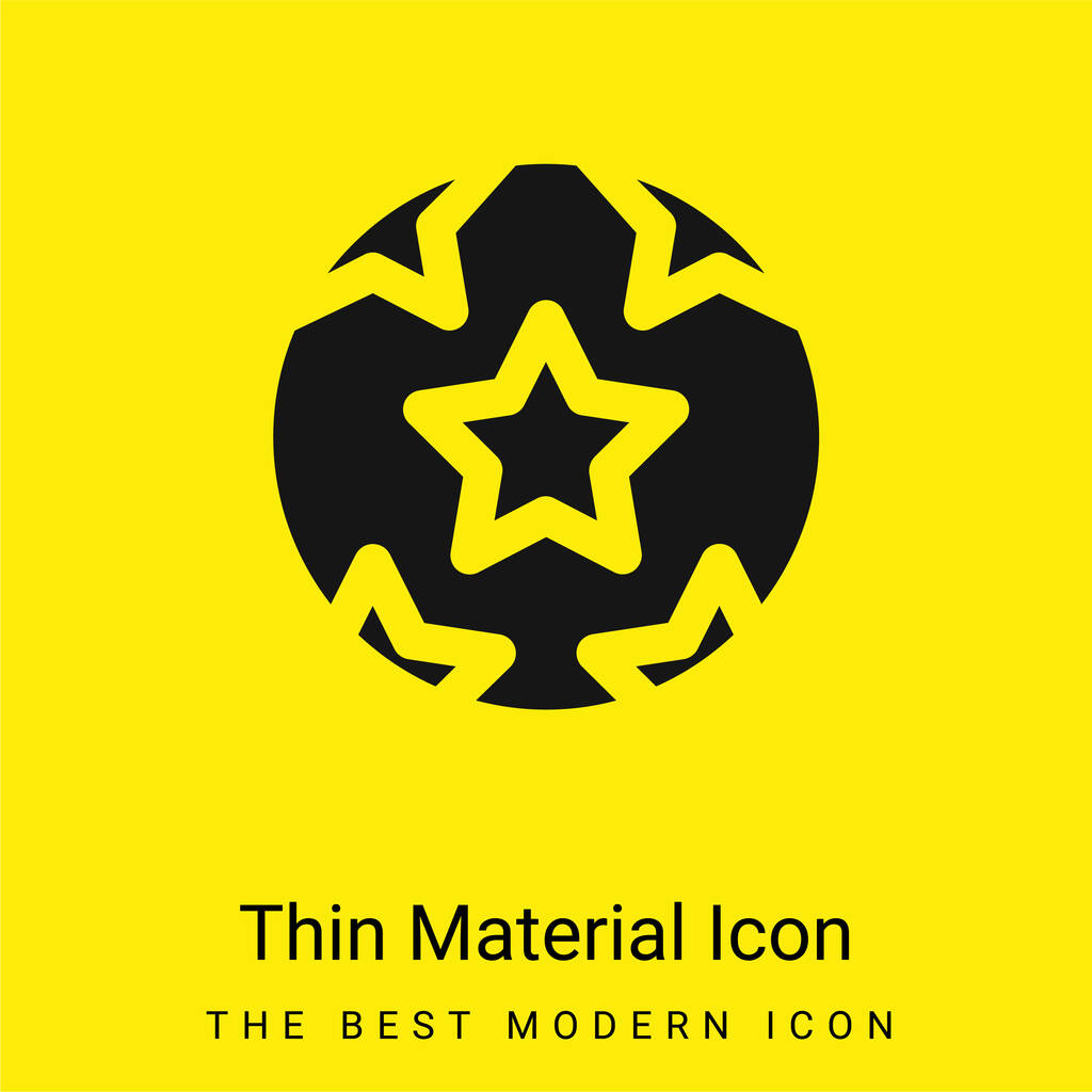 Ball With Stars minimal bright yellow material icon