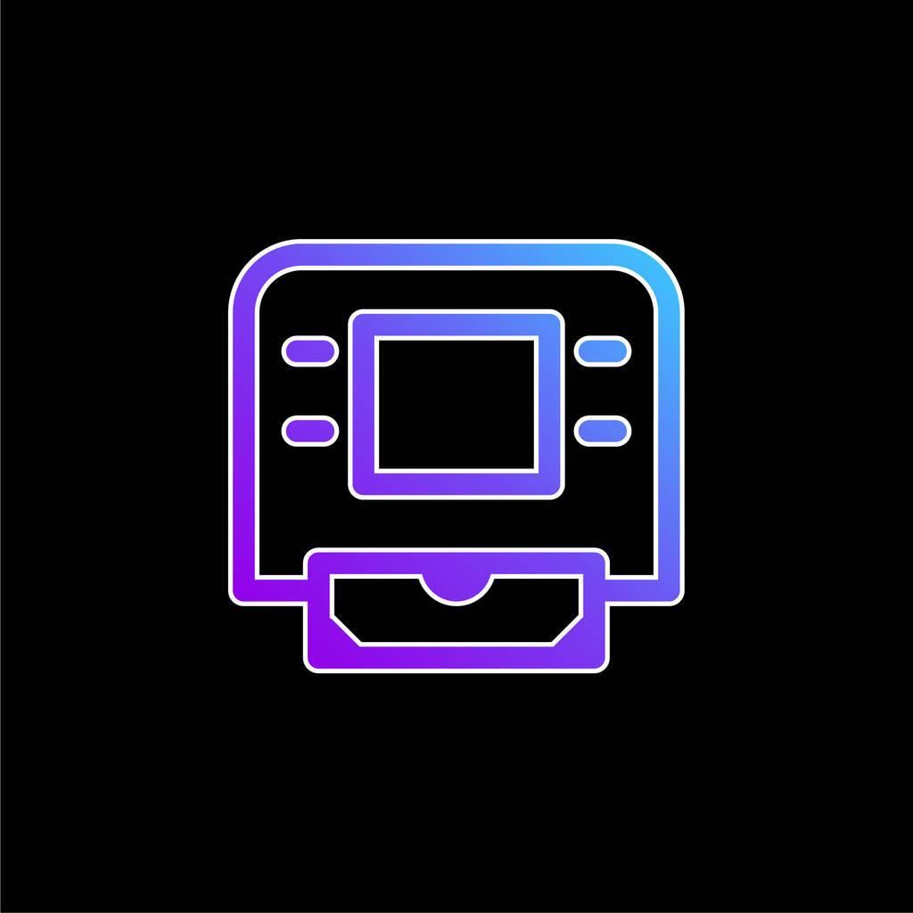 ATM Machine blue gradient vector icon