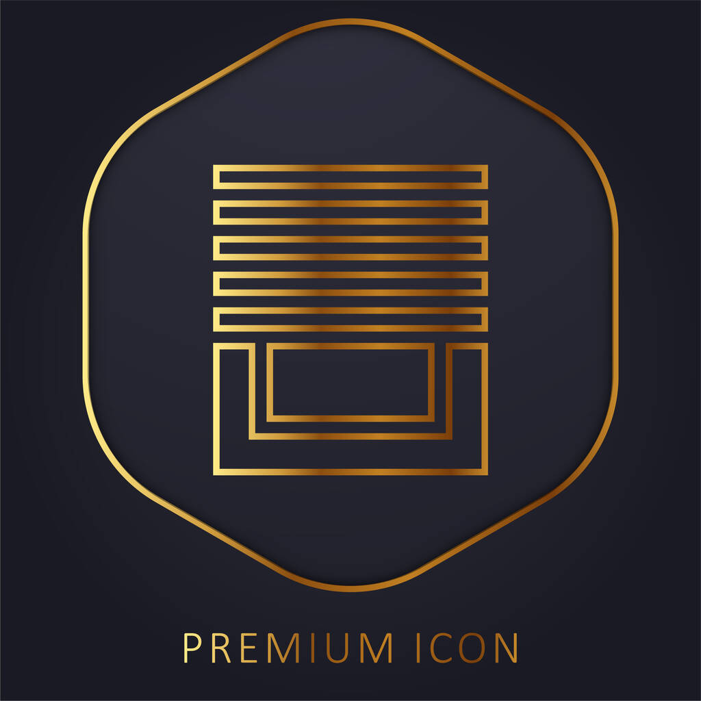Blinds golden line premium logo or icon
