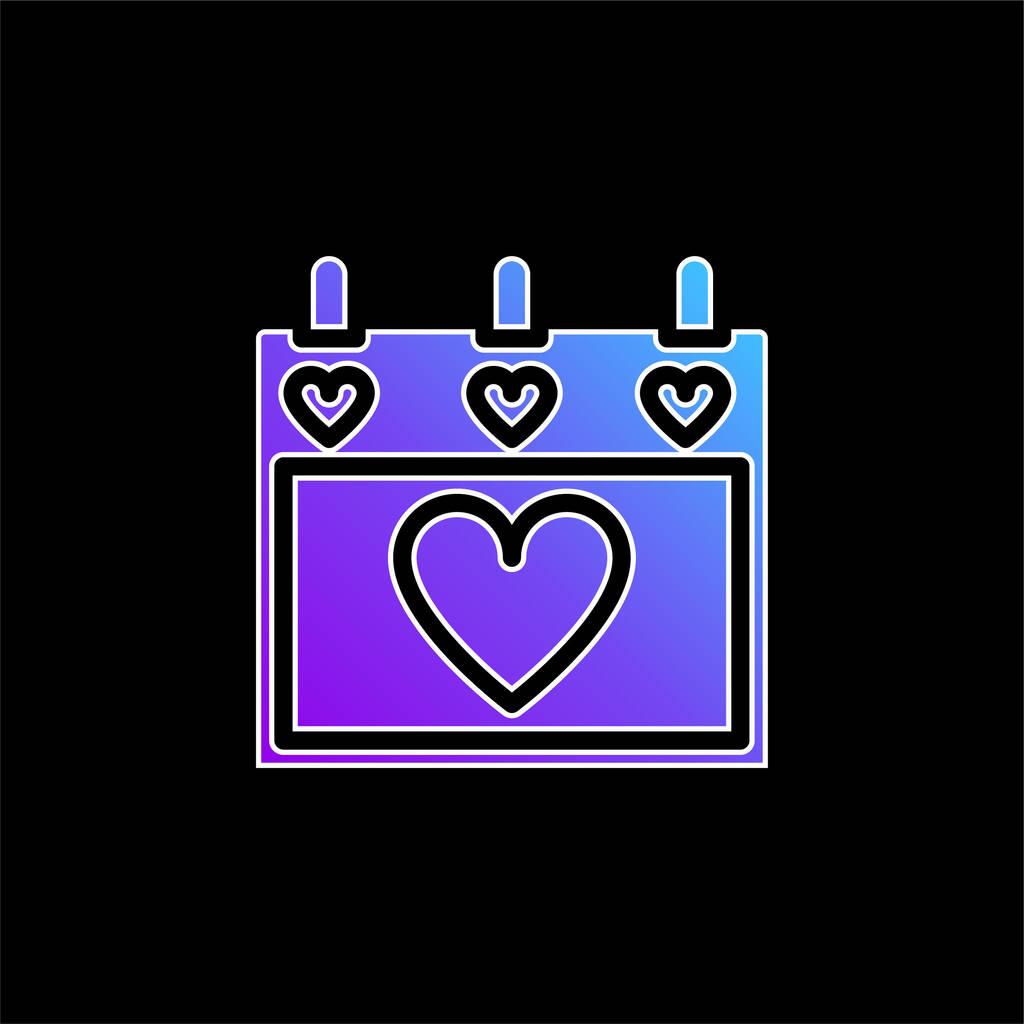 Agenda blue gradient vector icon
