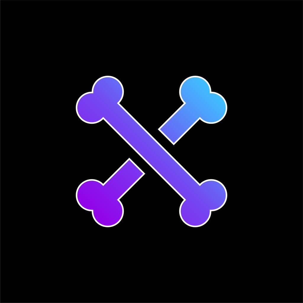 Bones blue gradient vector icon