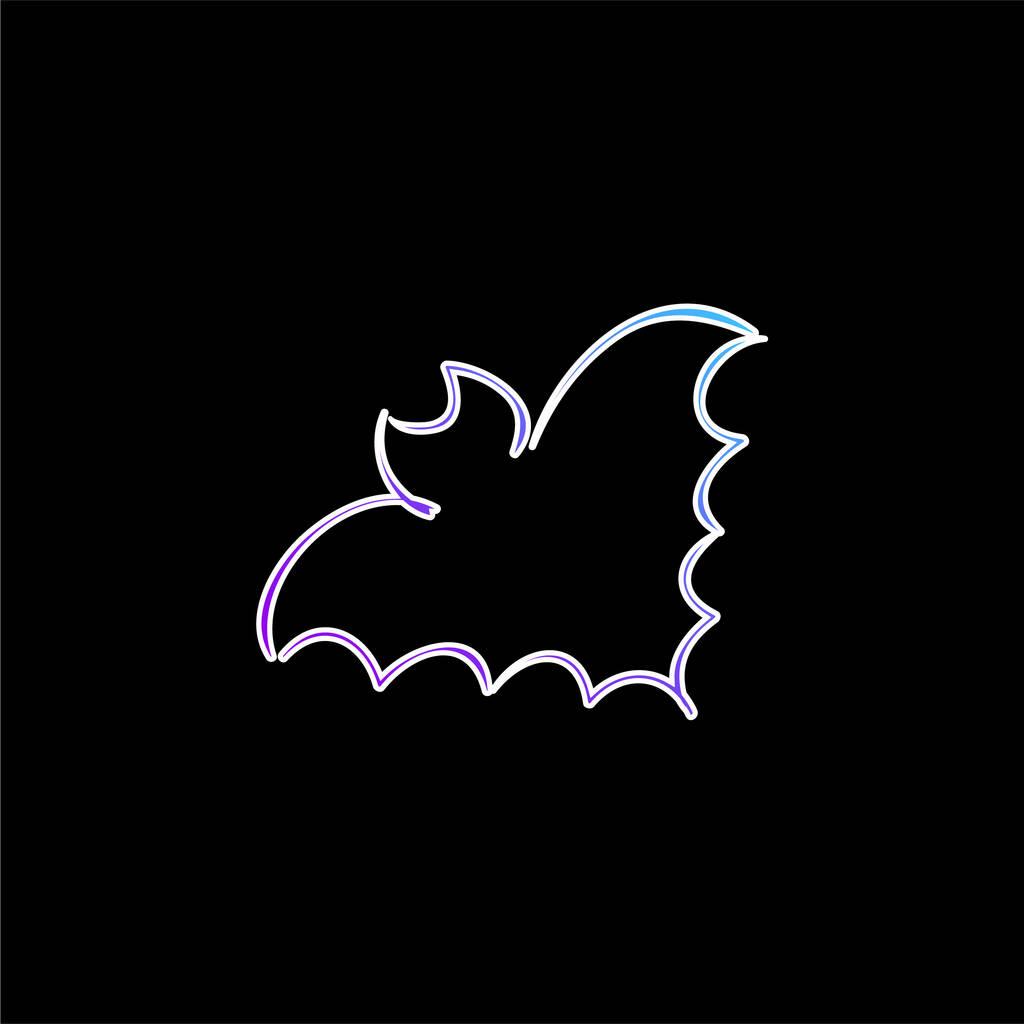 Bat Outline blue gradient vector icon