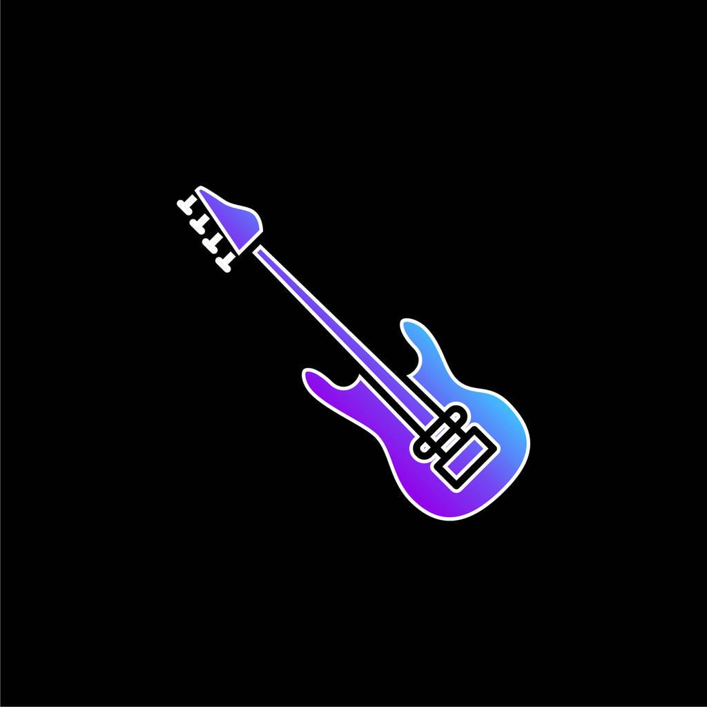 Bass Guitar blue gradient vector icon
