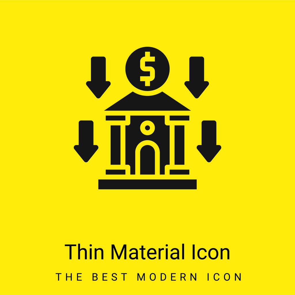 Bank minimal bright yellow material icon