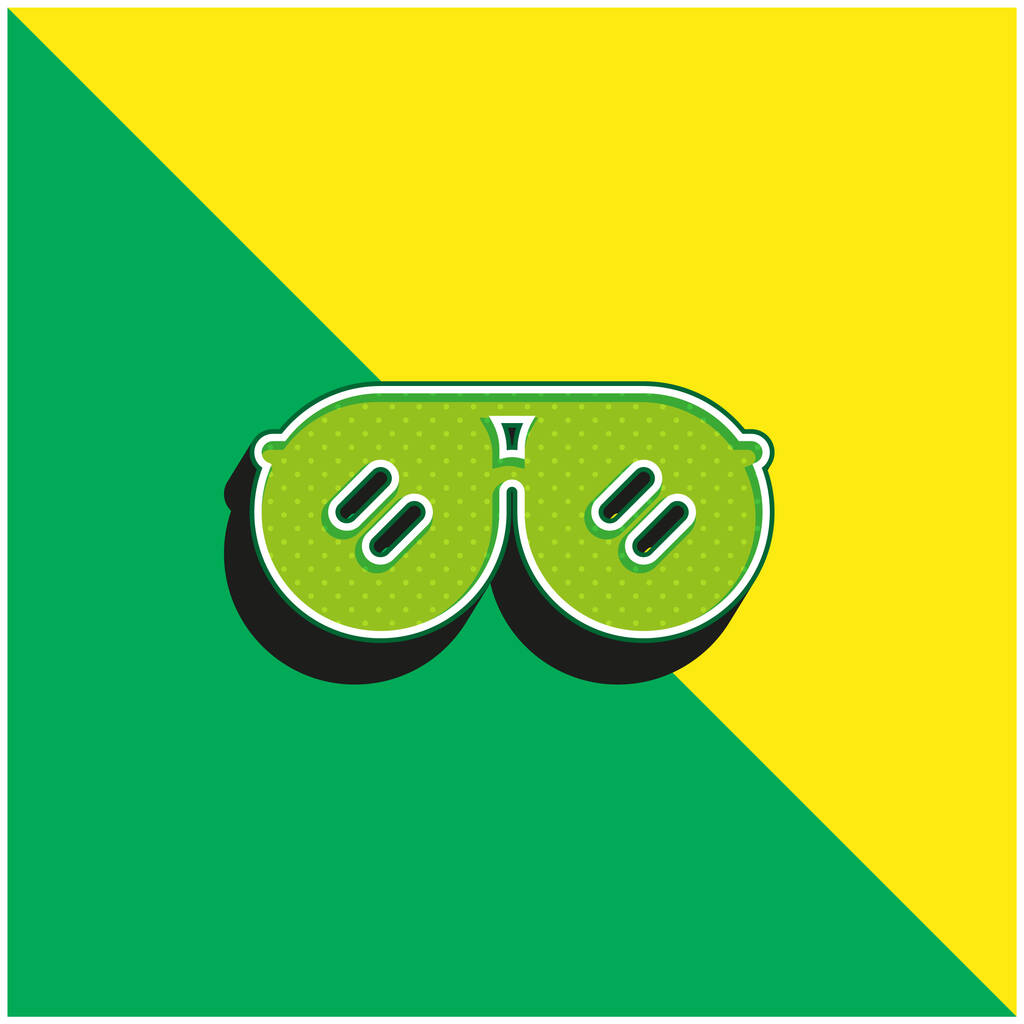 Accessory Green and yellow modern 3d vector icon logo