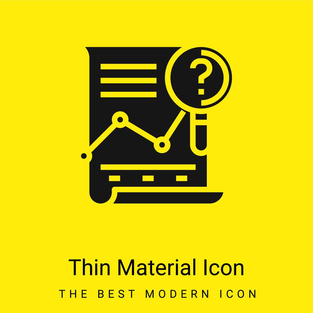 Analysis minimal bright yellow material icon