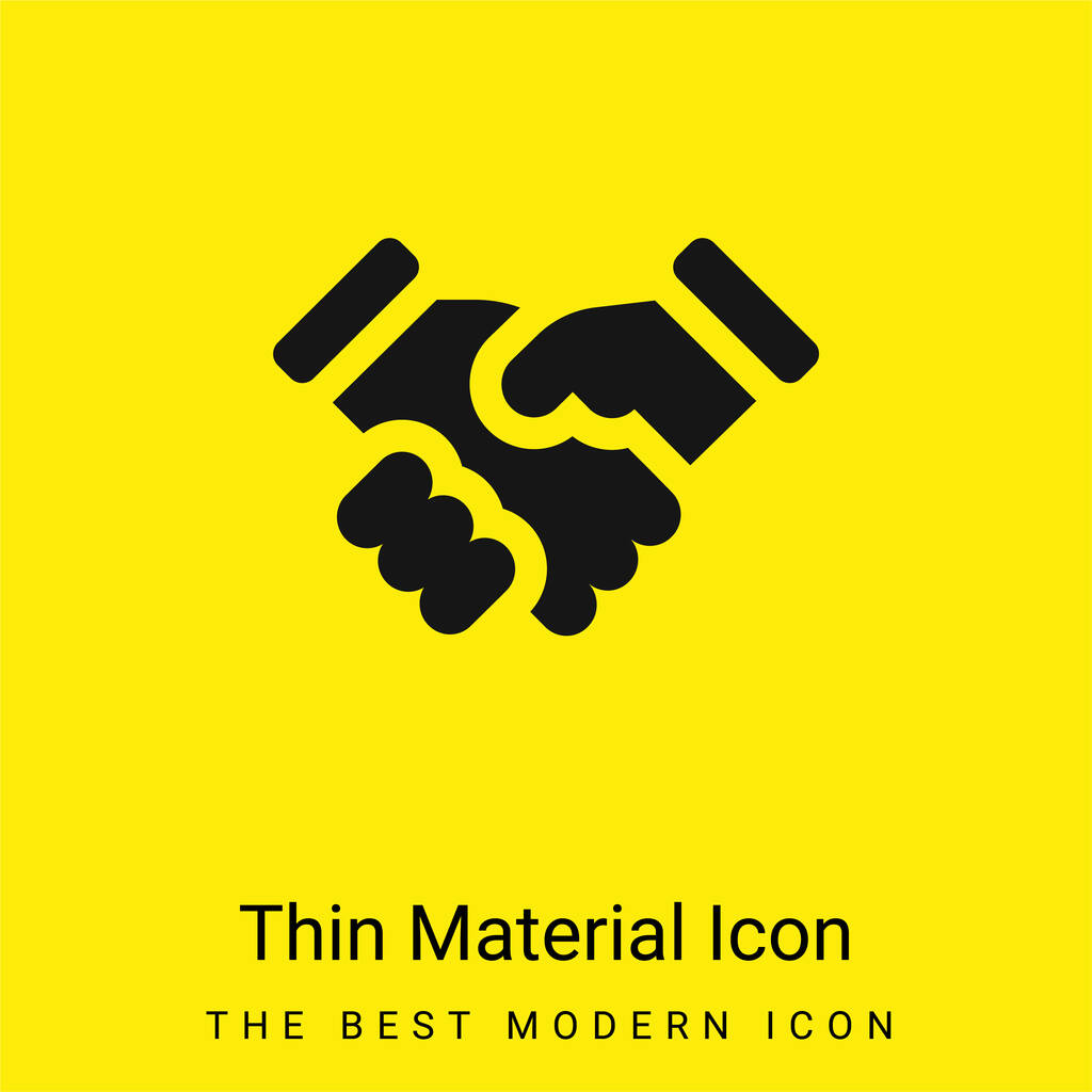 Agreement minimal bright yellow material icon