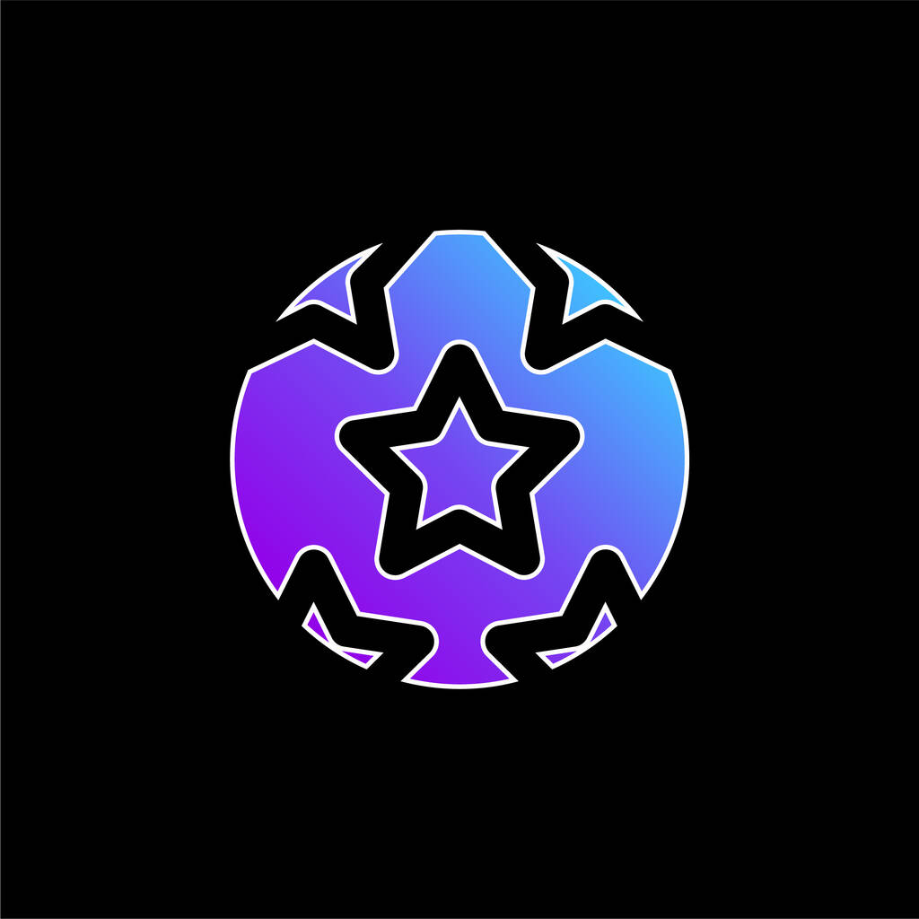 Ball With Stars blue gradient vector icon