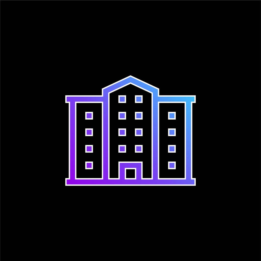 Apartment blue gradient vector icon