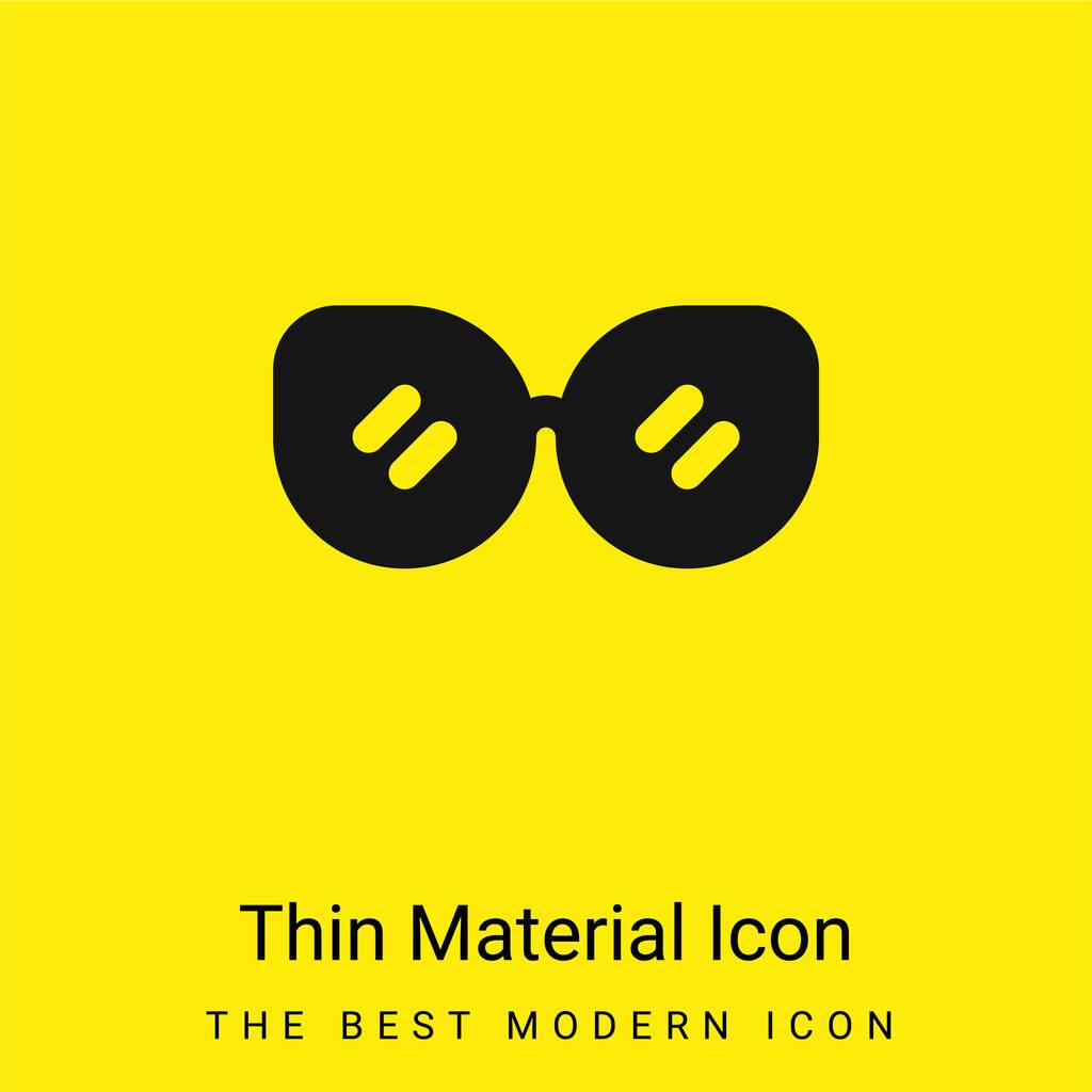 Accessory minimal bright yellow material icon