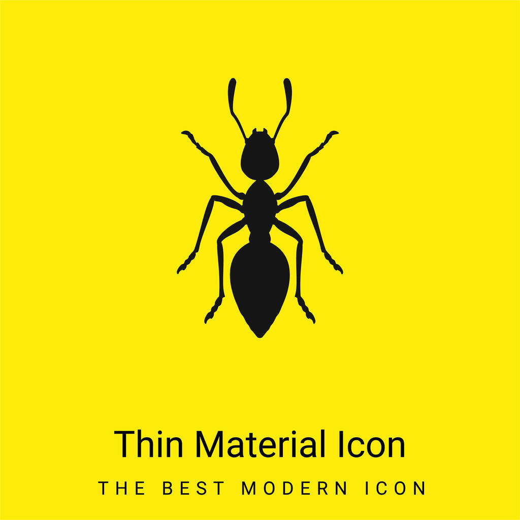 Ant minimal bright yellow material icon