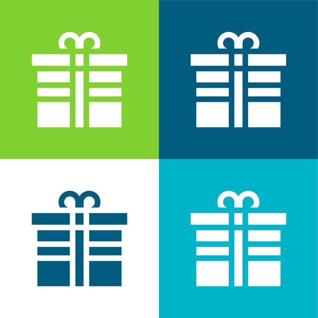 Birthday Flat four color minimal icon set