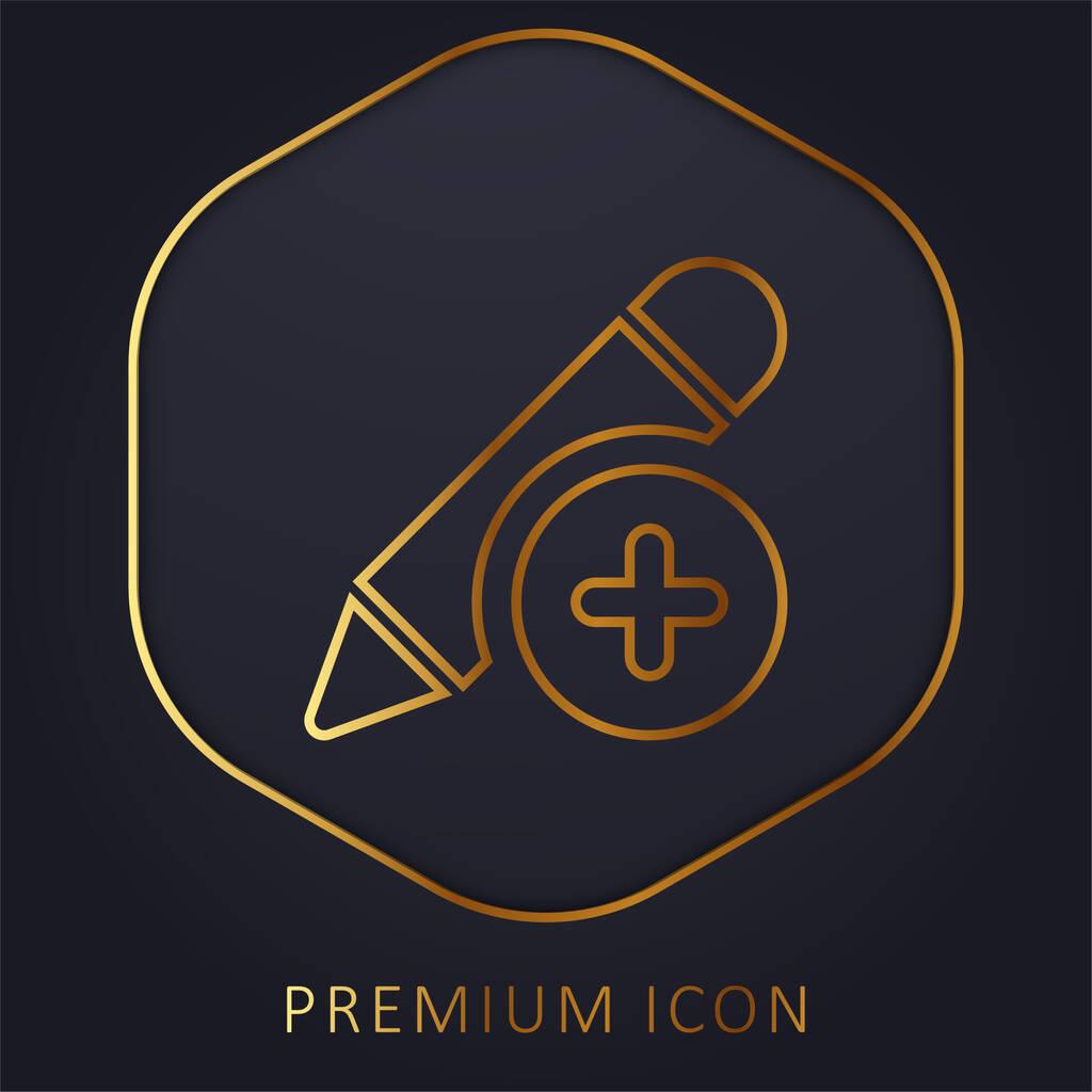 Add golden line premium logo or icon
