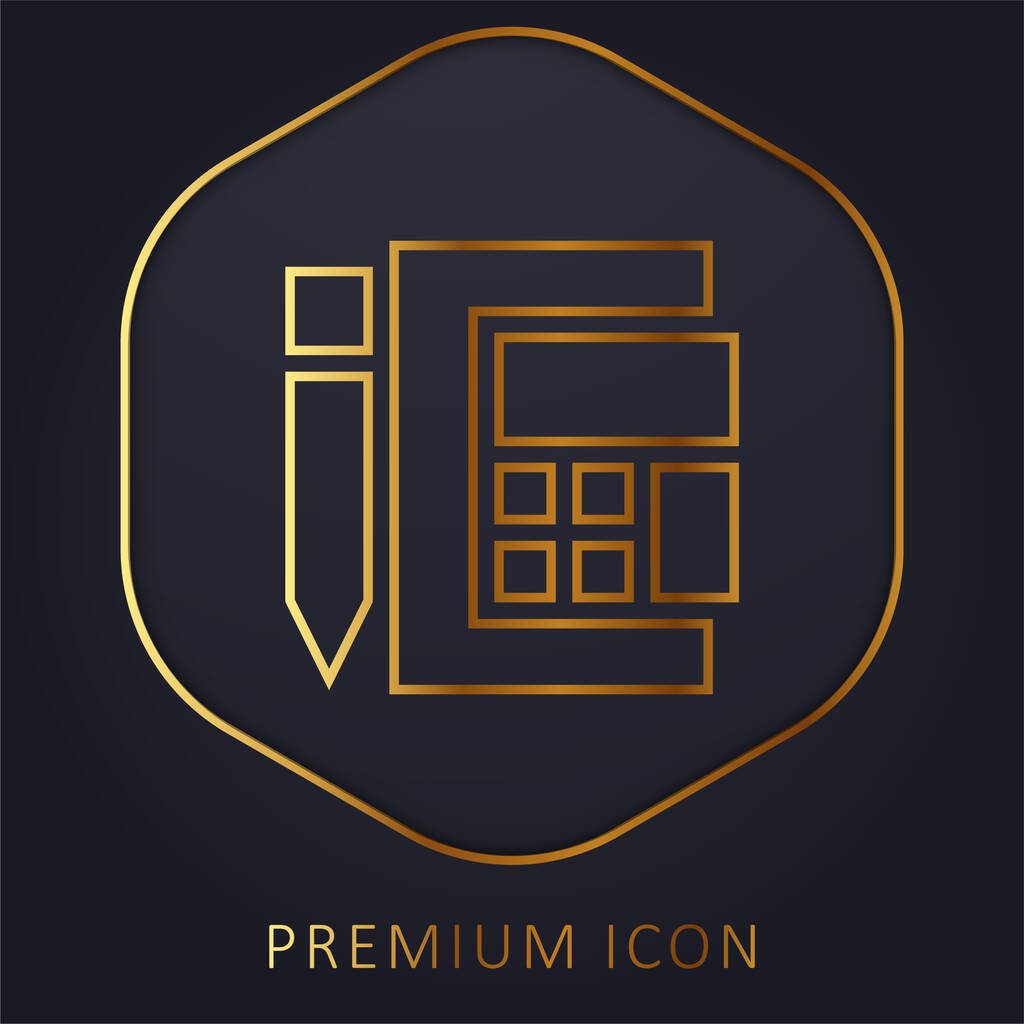 Accounting golden line premium logo or icon
