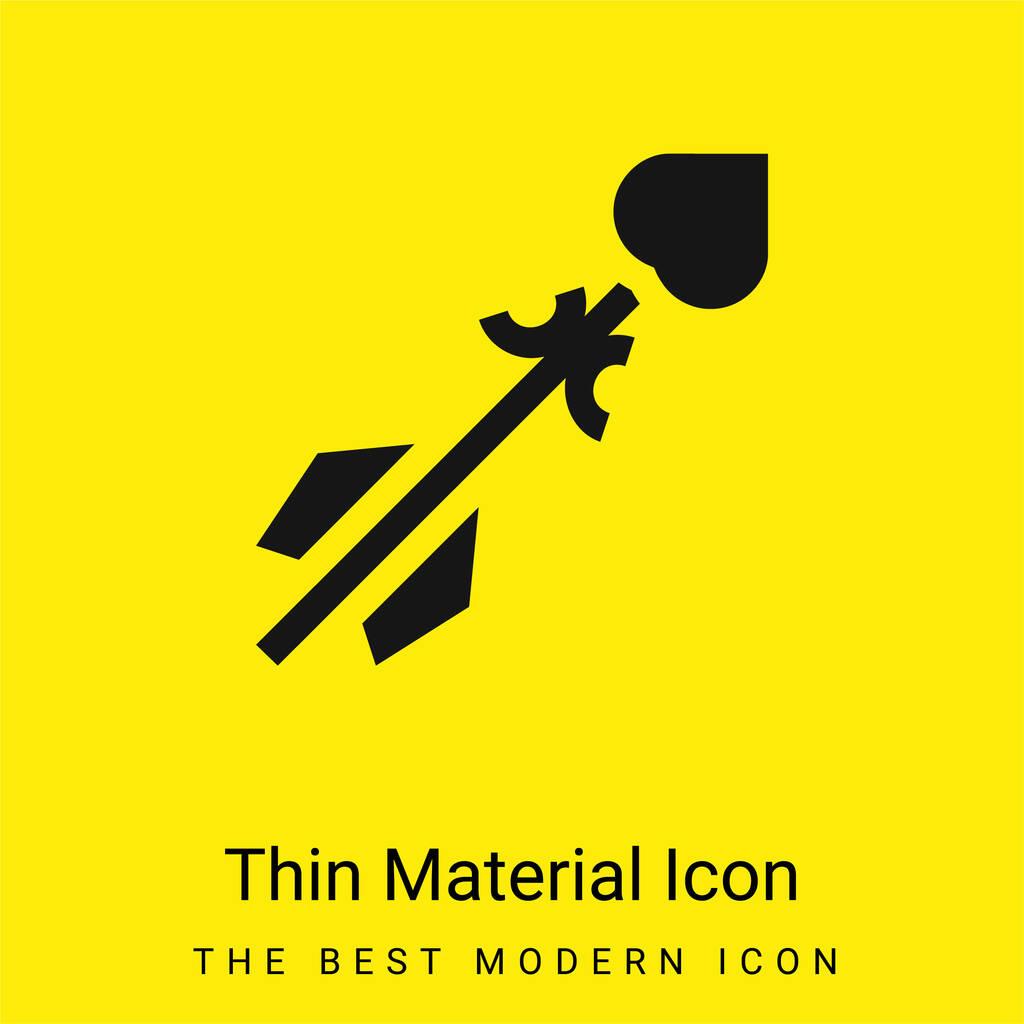 Arrow minimal bright yellow material icon